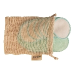 Pandoo Pratelné odličovací tamponky z bio bavlny 18 ks s úložným boxem z bambusu