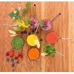 Casa Organica Sada nerezových slamiek 3 typy s kefkou